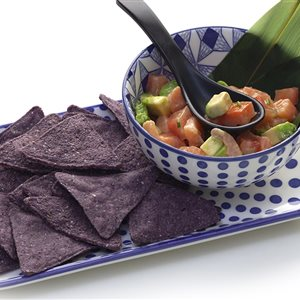 Purple Nachos Crudo